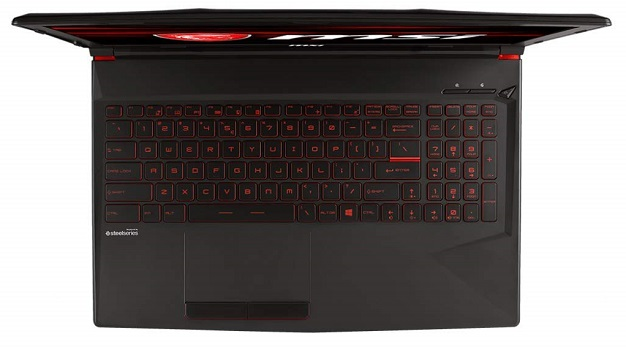 MSI GL63 8RD-221 keyboard and touchpad