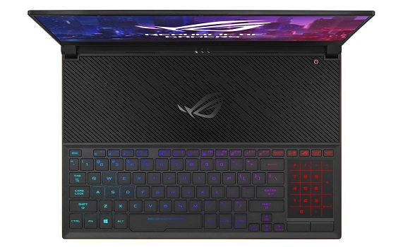 ASUS ROG Zephyrus S GX531GS-AH76 keyboard and touchpad